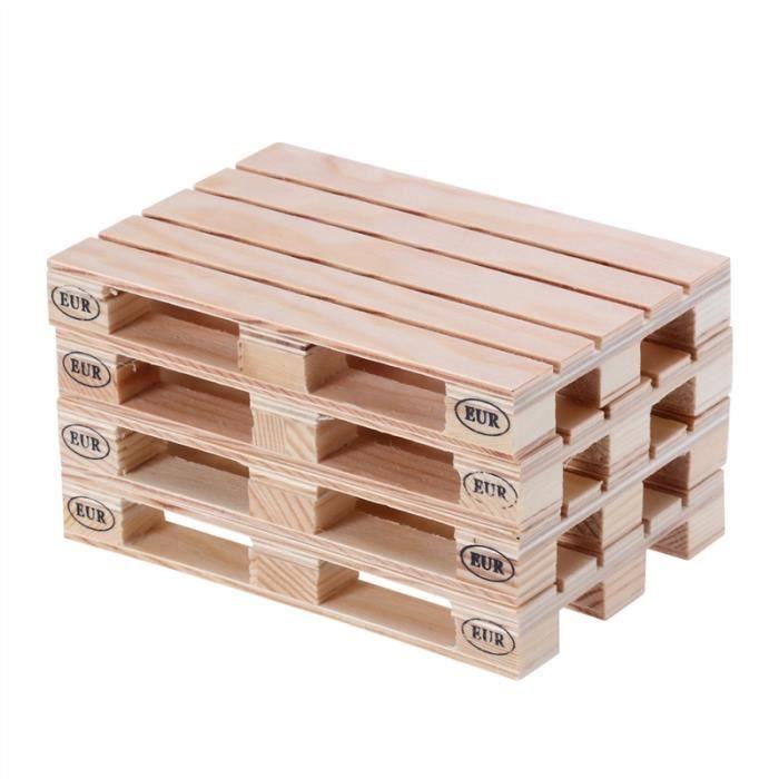 NAPPE DE TABLE 4pcs Coasters de table en bois de palette Tapis à