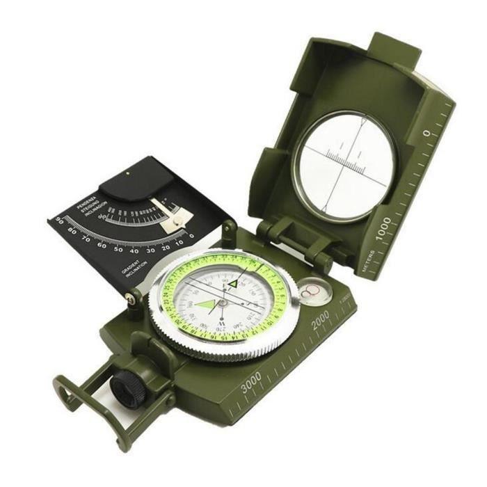 Boussole extérieure portable excursion camping observation boussole lumineux