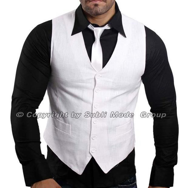 gilet chemise cravate homme blanc noir blanc achat vente costume tailleur cdiscount. Black Bedroom Furniture Sets. Home Design Ideas