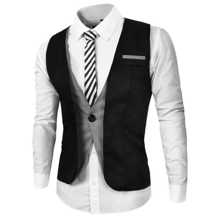 boom fashion gilet de costume homme sans manches slim. Black Bedroom Furniture Sets. Home Design Ideas