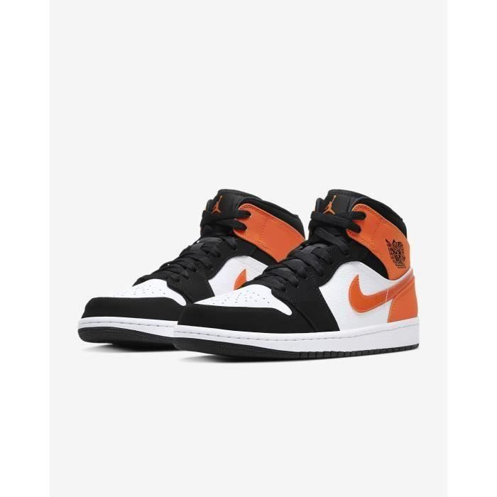 Nike Air Jordan 1 Mid Shattered Backboard Chaussures de Basket Air Jordan One Pas Cher pour Homme Femme Orange