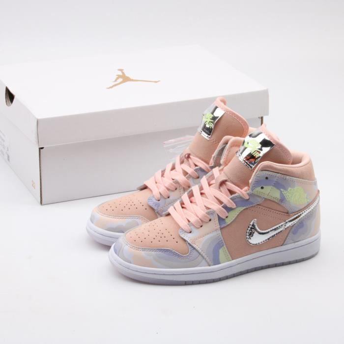 Airs Jordans 1 Mid SE Chaussures de Basket Airs Jo