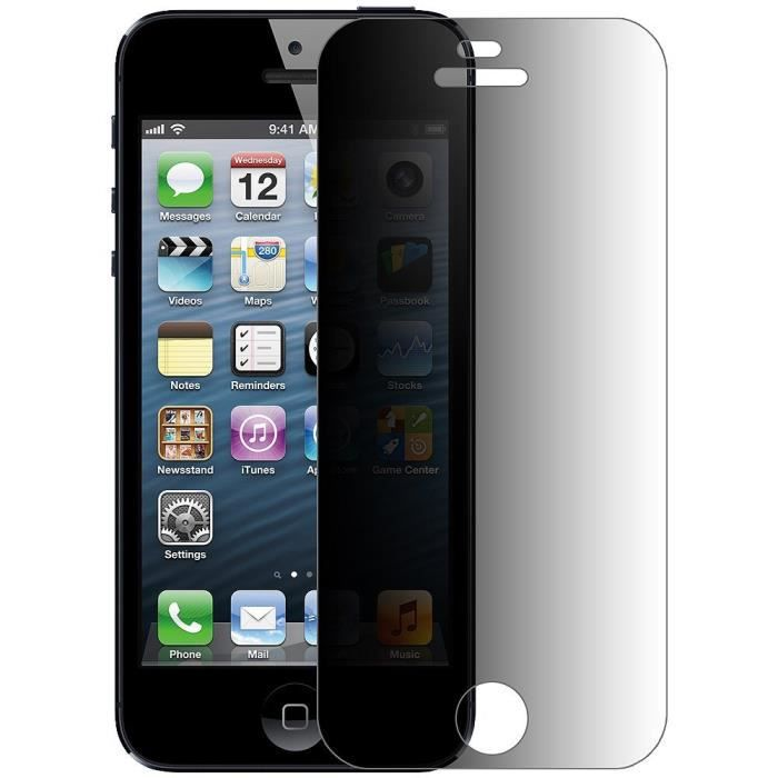 film protection verre tremp espion iphone 5 achat film. Black Bedroom Furniture Sets. Home Design Ideas