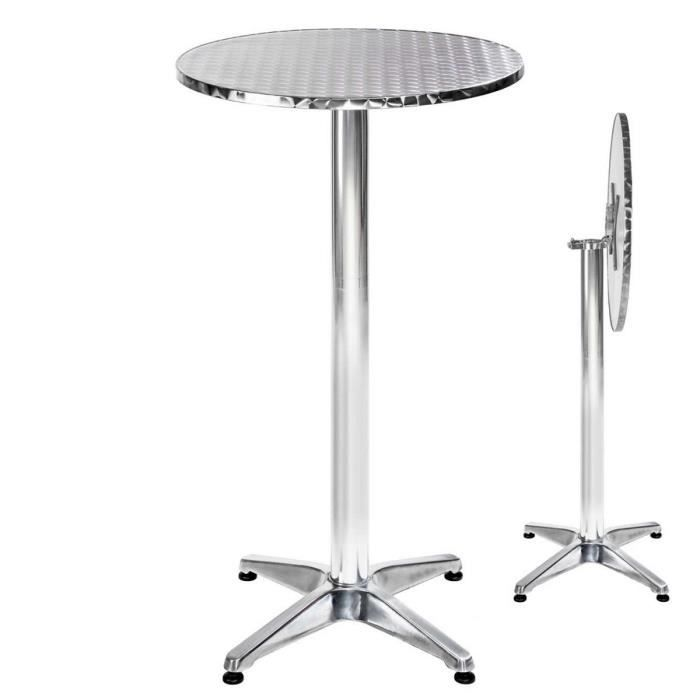 table de bar table de bistro table haute table de jardin table aluminium 60 cm hauteur. Black Bedroom Furniture Sets. Home Design Ideas