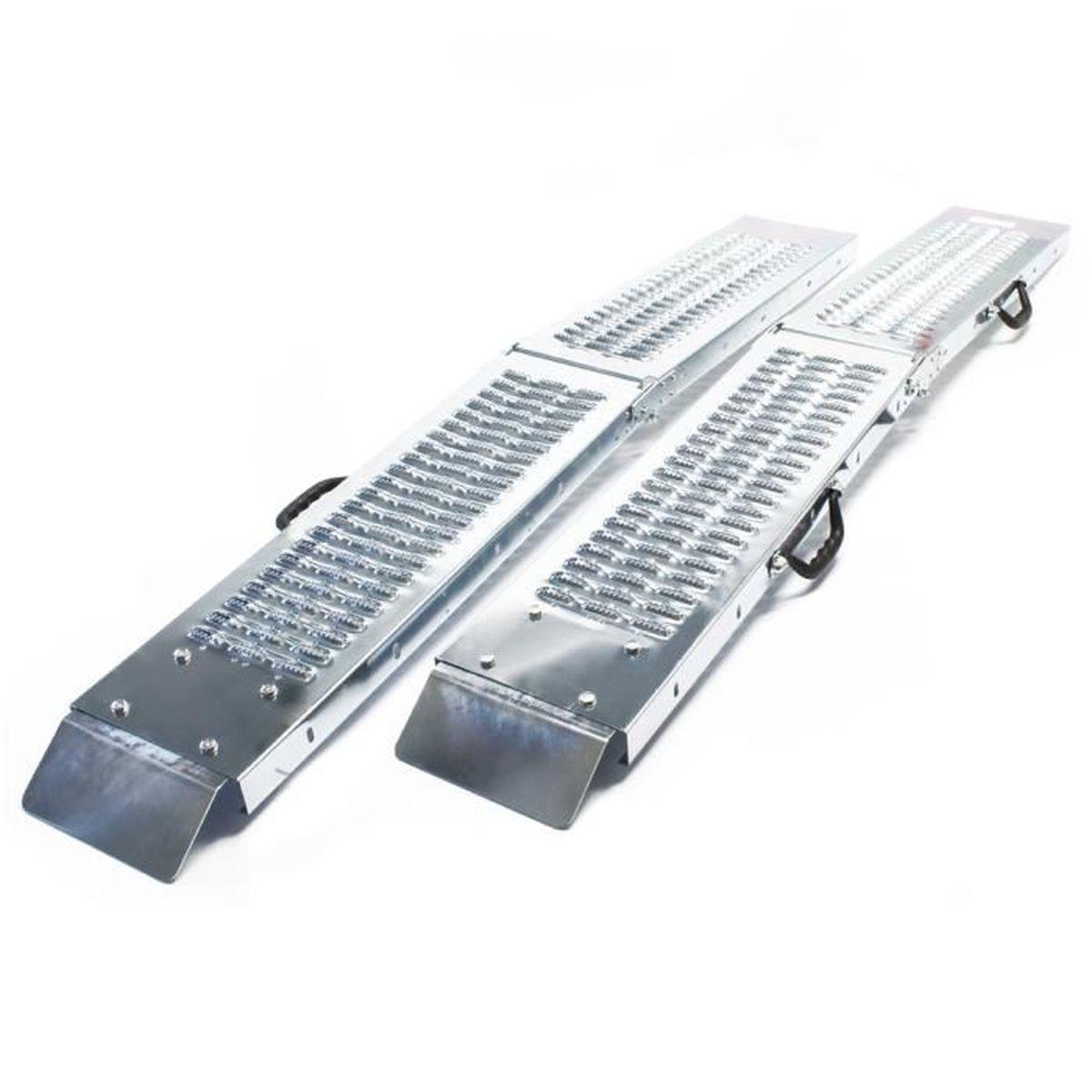 2x rampe de chargement acier galvanis/é moto ATV quad rail collision 160x22.5x4.5cm 400kg