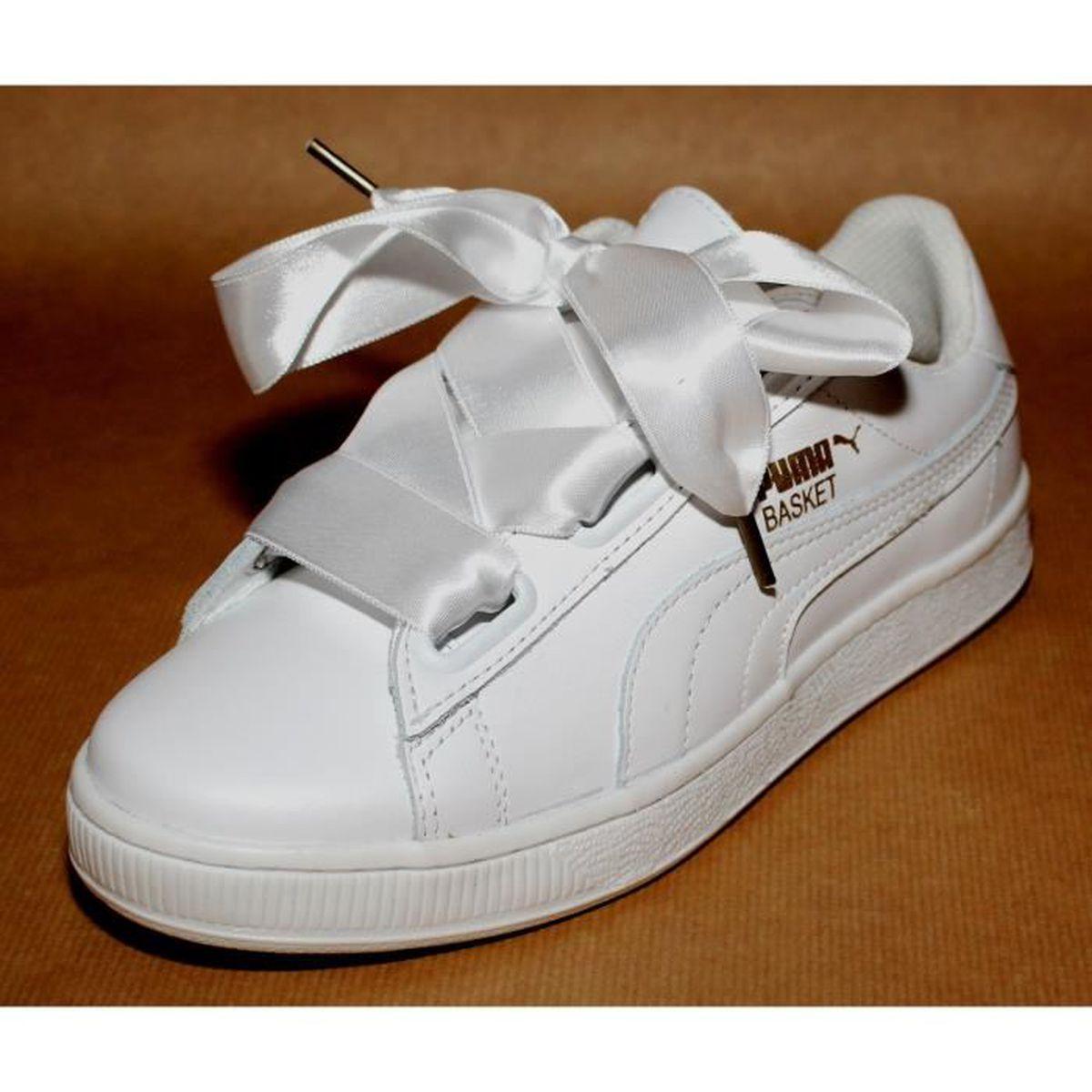 basket cuir femme puma