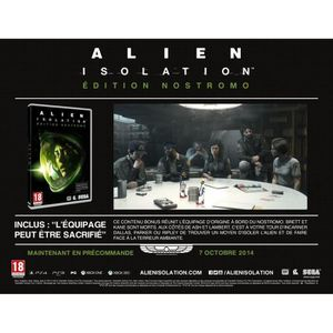 JEUX XBOX ONE Alien Isolation Edition Limitée Nostromo XBOX One