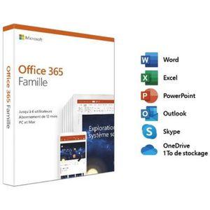 BUREAUTIQUE Microsoft Office 365 Famille – Jusqu'à 6 utilisate
