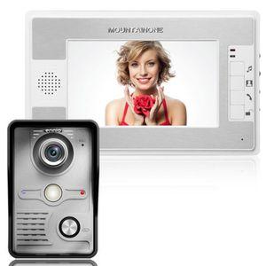 CAMÉRA DE SURVEILLANCE 7 pouces Video Door Phone Sonnette Interphone Kit