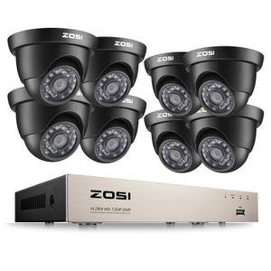 CAMÉRA DE SURVEILLANCE Kit Vidéo Surveillance de ZOSI 720p 4in1 TVI DVR E