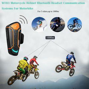 INTERCOM MOTO WT03 Casque de moto Casque d'écoute Bluetooth Syst