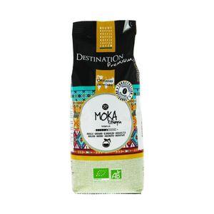 CAFÉ cafe en grain moka bio 1 kilo destination premium
