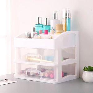 BOITE DE RANGEMENT Grande boîte de rangement cosmétiques Table tiroir