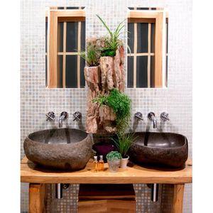 Mur végétal salle de bain GUYANA 69x 32 cm - Achat / Vente ...
