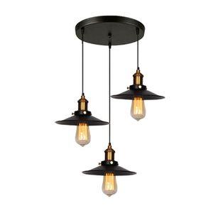 LUSTRE ET SUSPENSION UNI 22cm Abat-jour Suspension Vintage Plafond Lamp