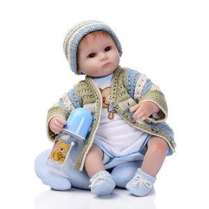 POUPÉE 55CM bébé reborn poupon poupée silcone