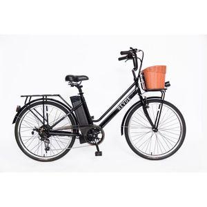 VÉLO ASSISTANCE ÉLEC REVOE Vélo de ville électrique City 26'' - Noir -
