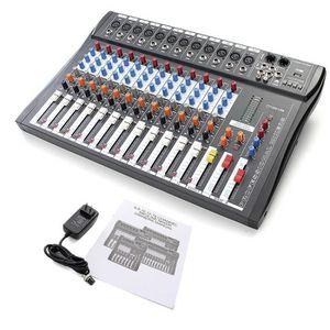 TABLE DE MIXAGE Radio 12 Canaux Professionnel Karaoké Mixeur Audio