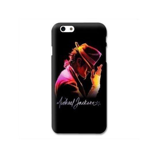 Coque compatible iphone 6 / 6s Michael Jackson Noir taille unique