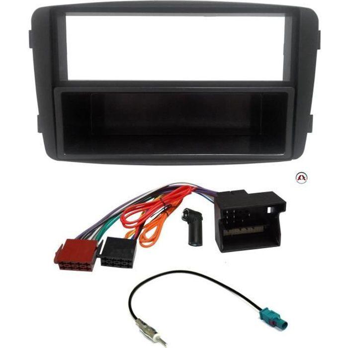 Kit Adaptateur Autoradio Mercedes C CLK 00-04 / Viano/ Vito ap04 - Sans Bose + ISO + FM - avec vide poche - ADNAuto - KITFAC108