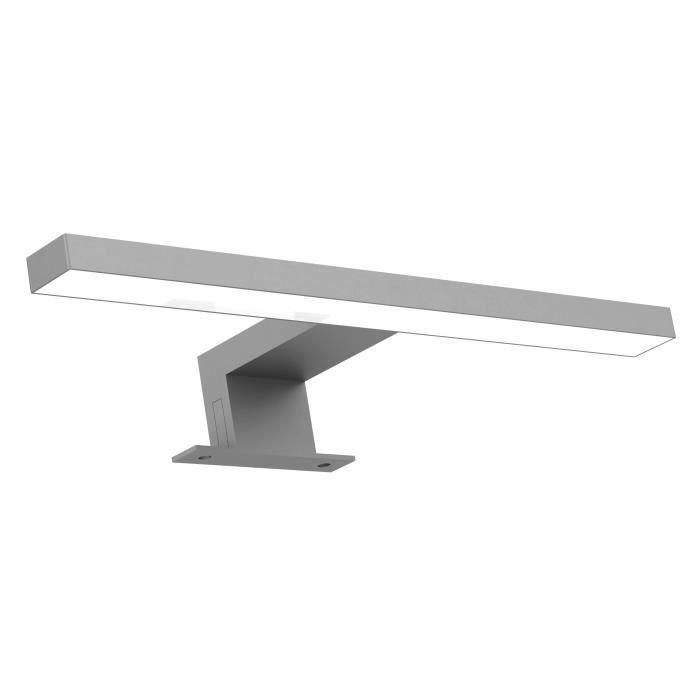 Applique LED pour miroir de salle de bain RIGEL 4,8 W couleur silver - 30 x 4,3 x 10 cm