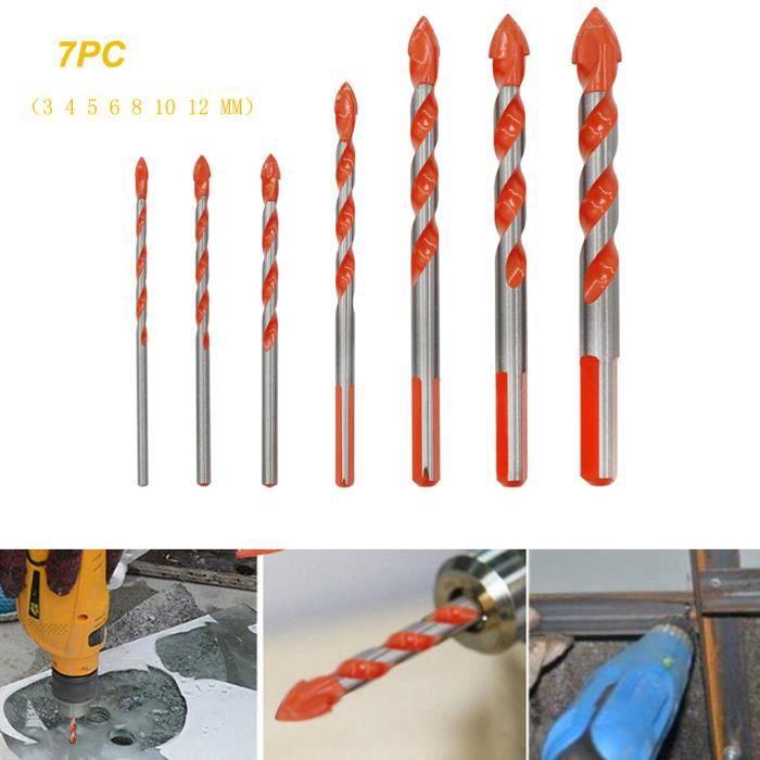 Drill multifonctions Bits mur en verre céramique Punching Set de travail Hole Amélioration de l'habitat 580