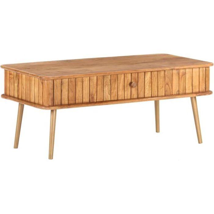 XIX Table basse 100x50x40 cm Bois d'acacia massif