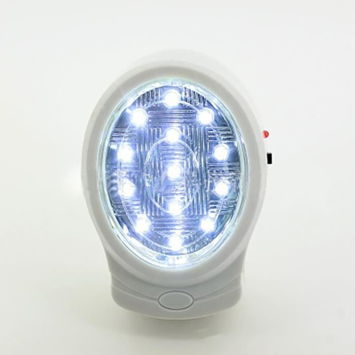 US Wall Plug Rechargeable Emergency Light White Night Lamp Bulb KG-913 13 LED 2W @gre2639
