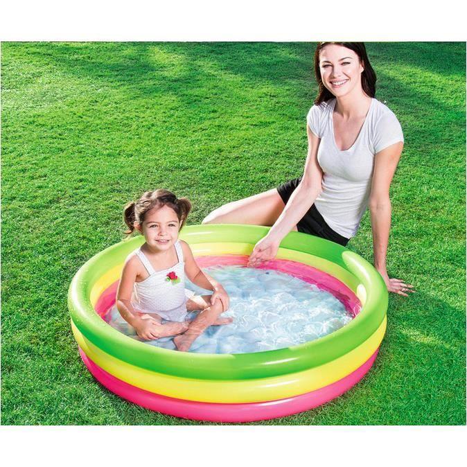 Piscine ronde gonflable enfant bébé Jouet à la maison baignoire gonflable bébé Piscine enfant petit 102*25cm pour 1 ou 2 enfants 905