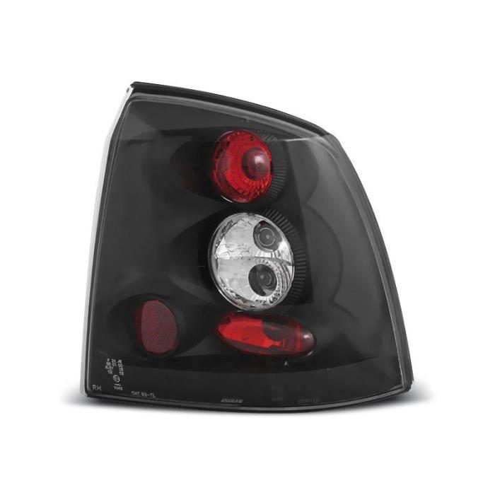 Paire de feux arriere Opel Astra G berline 97-04 noir (P37)