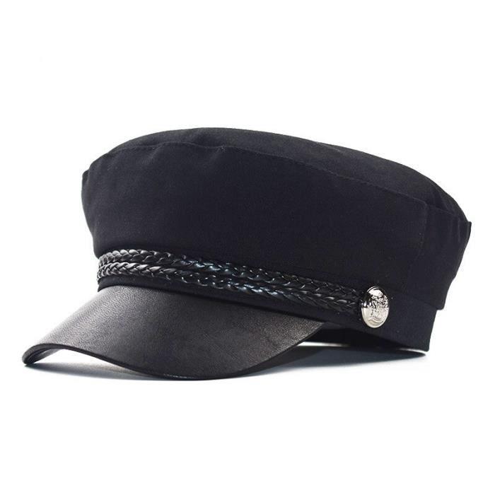 Béret en coton pour hommes et femmes, casquette militaire de haute qualité, chapeau plat, casquette de capitaine, [7979B06]
