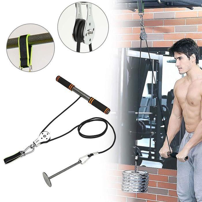 Système de poulie de remise en forme Système de poulie de câble Entraînement de force pratique Triceps Pulldown Attachement