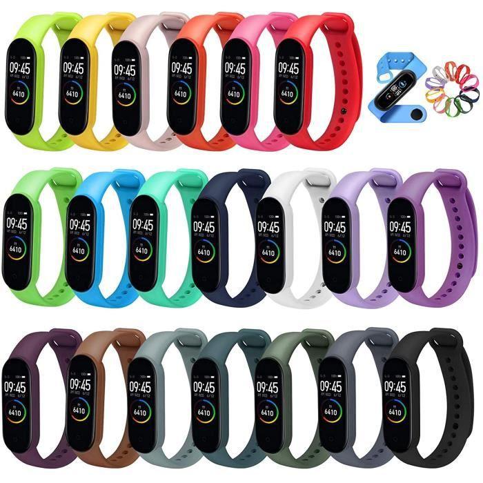 ivoler 20 Couleurs Bracelet Mi Band 5-6, Bracelet De Rechange Xiaomi Mi Smart Band 5-6 (NFC) Sangle Remplacé, Montre Connectée X723