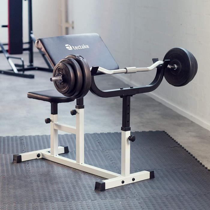 Banc de Musculation pour Biceps curl - accoudoirs et Surface d'assise réglables[196]