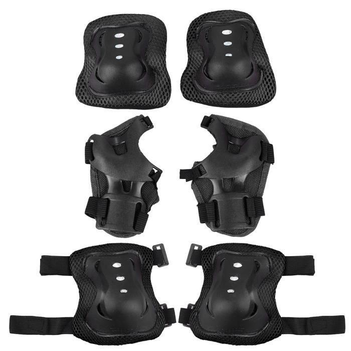 6pcs équipement de protection sport skateboard accessoire de vélo genou protecteur TAPIS DE SOL - TAPIS DE GYM - TAPIS DE YOGA