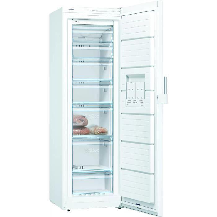 bosch - congélateur armoire 60cm 242l nofrost a++ blanc - gsn36cwfv