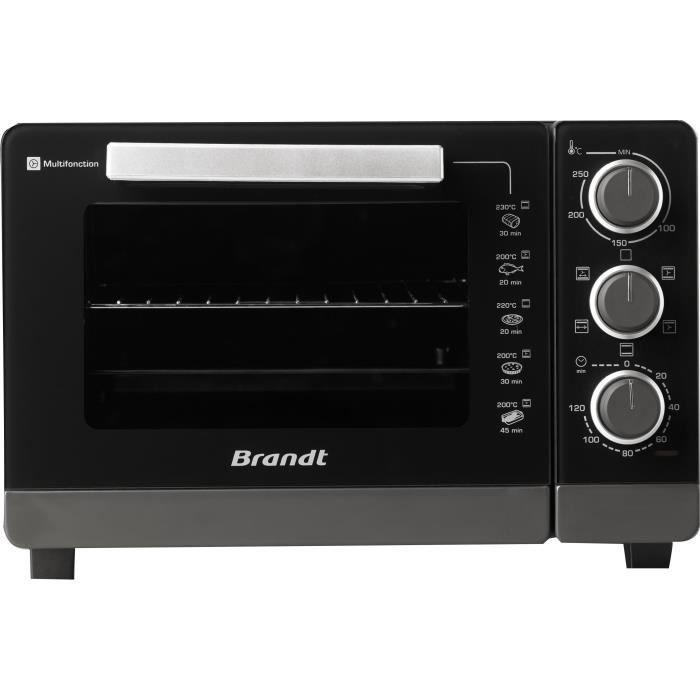 BRANDT FC265MB - Mini-four multifonction grill - 26L - 1500 W - Noir / gris