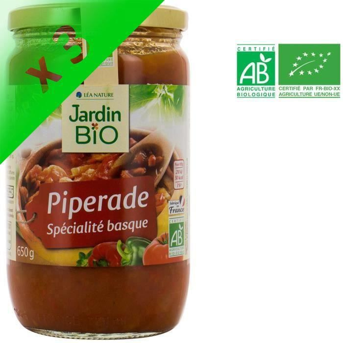 [LOT DE 3] JARDIN BIO Piperade bio - 650 g