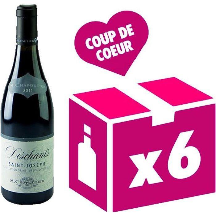 Saint Joseph Deschants vin rouge 6x75cl Chapoutier 2016