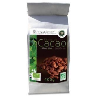 Fêves de cacao entière du Pérou BIO - sachet 400 g