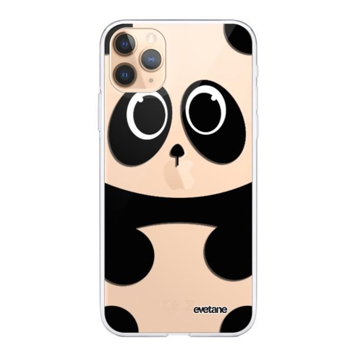 Coque iPhone 11 Pro Max 360 intégrale transparente Panda Ecriture Tendance Design Evetane