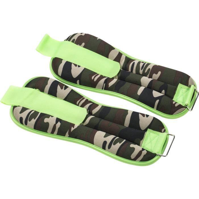Gorilla Sports - Paire bandes lestées flashy camouflage de 1Kg à 4kg - 1 KG