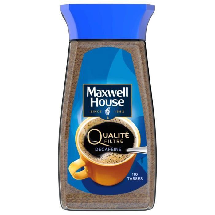 MAXWELL HOUSE Café décaféiné - Qualité filtre - Bocal de 200 g
