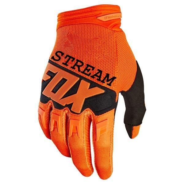 Gants vélo,Stream Fox gant Moto Dirt Bike DIRTPAW Motocross gants BMX vtt vtt tout terrain Moto gants VTT gants de - Type Orange