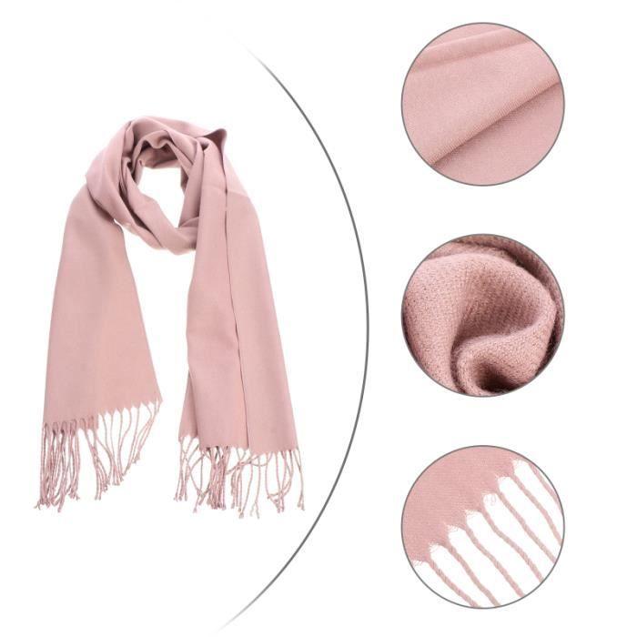 1pc couleur unie coupe-vent imitation cachemire hiver silencieux cou cache-cou DRAPEAU - BANDEROLE - ECHARPE