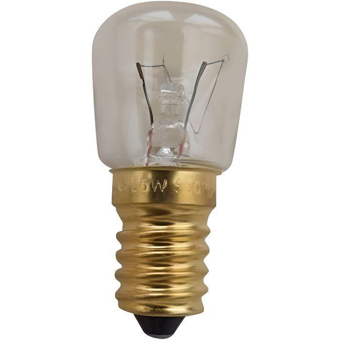 E14 LAMPE DE FOUR 25W-230V-300°C (55X26MM) POUR FOUR ROSIERES 244105 - * 063.01.0325 244105 CL807 R - BVMPièces