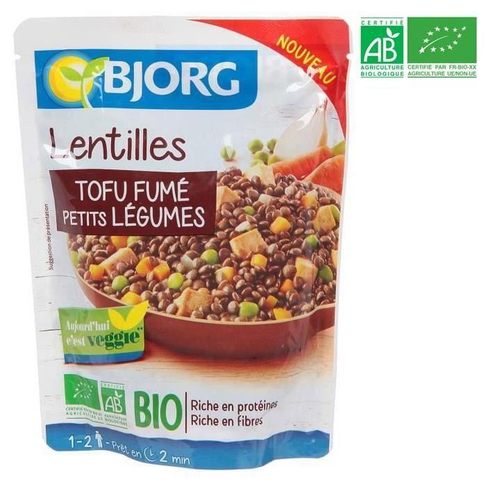 Plat préparé Lentilles tofu fumé - Bio - 250g