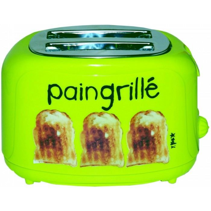grille pain design pain grill couleur vert mat achat vente grille pain toaster cdiscount. Black Bedroom Furniture Sets. Home Design Ideas