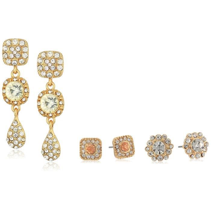 Craze Gold Tone Crystal Stud Earrings AL0BE
