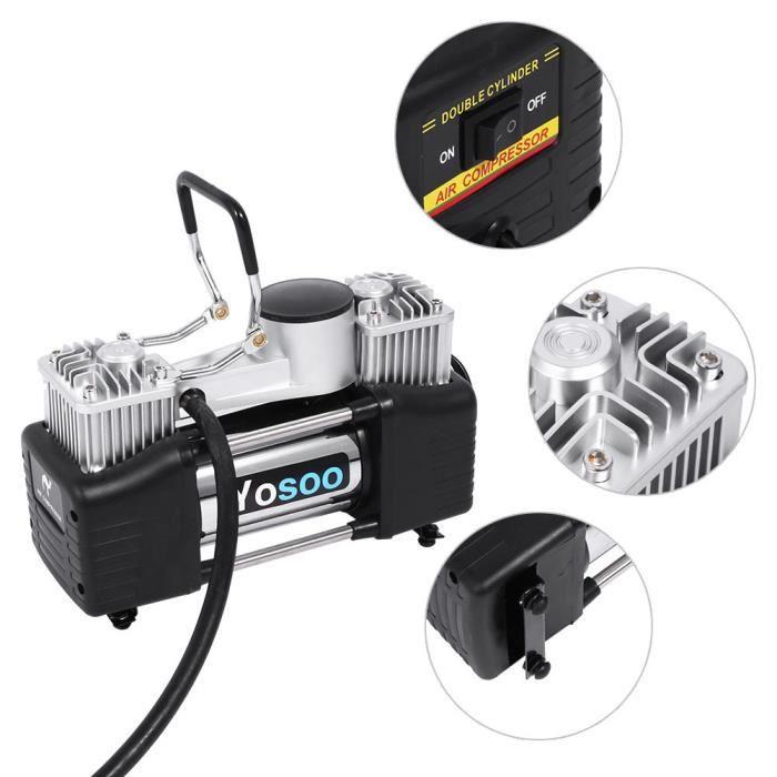 COMPRESSEUR 12V Pompe à air 12V Compresseur de voiture pompe à air